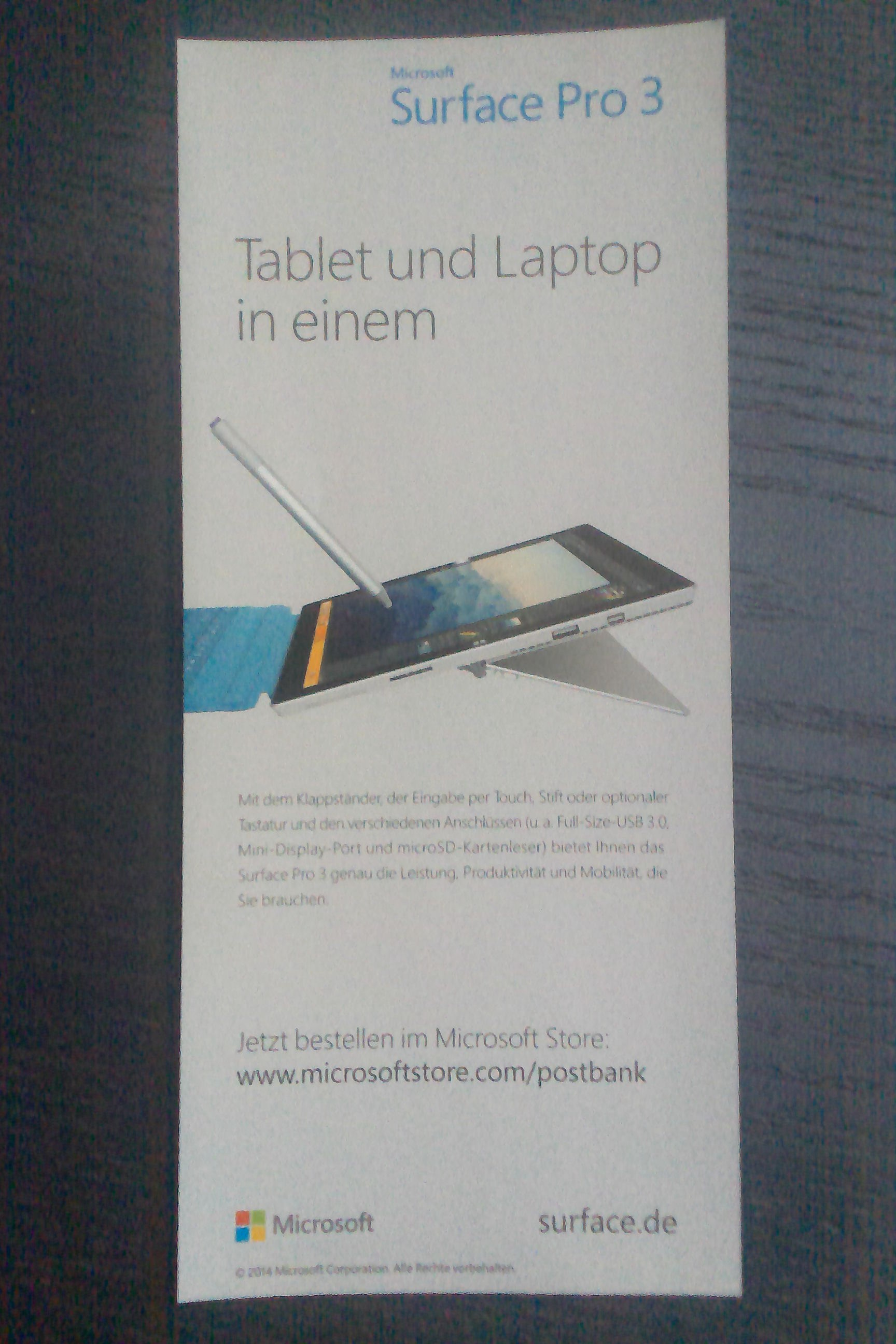 SurfacePro3-Bild1 mitt Brille